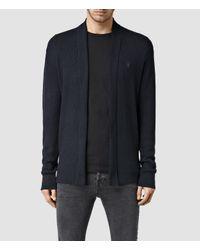 AllSaints   Blue Mode Merino Open Cardigan Usa Usa for Men   Lyst