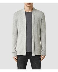 AllSaints | Gray Mode Merino Open Cardigan Usa Usa for Men | Lyst