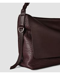 AllSaints | Purple Paradise Satchel Bag | Lyst