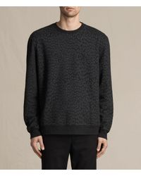 AllSaints Black Prowl Crew Sweatshirt for men