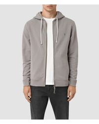 AllSaints | Gray Raven Hoody for Men | Lyst