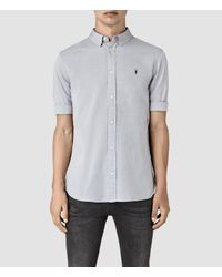 AllSaints | Gray Redondo Half Sleeved Shirt for Men | Lyst