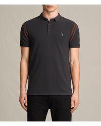 AllSaints | Black Reform Varsity Polo Shirt for Men | Lyst