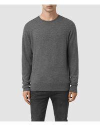 AllSaints | Gray Riviera Cashmere Crew Sweater Usa Usa for Men | Lyst
