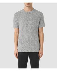 AllSaints   Gray Schans Crew T-shirt Usa Usa for Men   Lyst