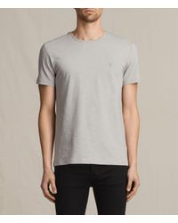AllSaints   Gray Soul Crew T-shirt for Men   Lyst