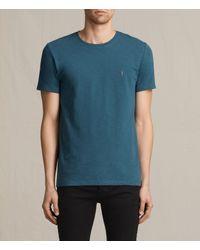 AllSaints   Blue Soul Crew T-shirt Usa Usa for Men   Lyst