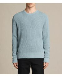 AllSaints | Blue Trias Crew Sweater Usa Usa for Men | Lyst