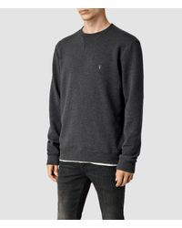 AllSaints - Gray Wilde Crew Sweatshirt for Men - Lyst