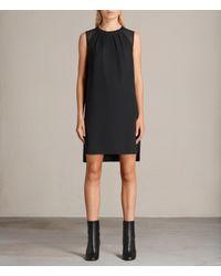 AllSaints | Black Jay Dress | Lyst