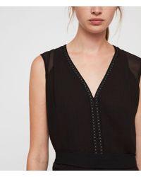 AllSaints - Black Izara Dress - Lyst