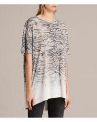 AllSaints   White Tygr Cori T-shirt   Lyst