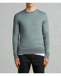 AllSaints - Green Mode Merino Sweater for Men - Lyst