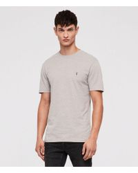 AllSaints - Gray Brace Tonic Crew T-shirt for Men - Lyst