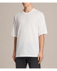 AllSaints - White Hiruma Crew T-shirt for Men - Lyst