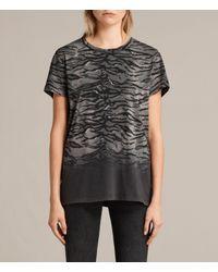 AllSaints - Black Tygr Joy T-shirt - Lyst