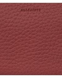 AllSaints - Red Fetch Cardholder - Lyst