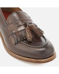 GRENSON - Brown Mackenzie Hand Painted Leather Tassel Loafers for Men - Lyst