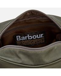 Barbour - Green Drywax Wash Bag for Men - Lyst