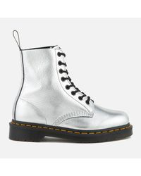 Dr. Martens | Women's Pascal Metallic Leather 8-eye Lace Up Boots | Lyst