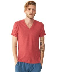Alternative Apparel | Purple Feeder Striped V-neck T-shirt for Men | Lyst