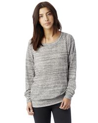 Alternative Apparel   Gray Slouchy Space-dye Eco-jersey Pullover   Lyst