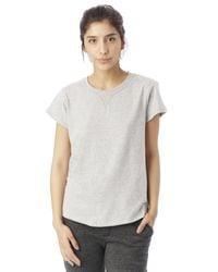 Alternative Apparel - Gray Cross Country Heavyweight Mock Twist T-shirt - Lyst