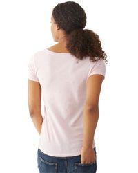 Alternative Apparel - Pink Organic Scoop Neck T-Shirt - Lyst