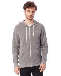 Alternative Apparel   Gray Rocky Eco-fleece Zip Hoodie for Men   Lyst