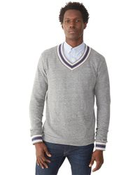 Alternative Apparel | Gray Eco-jersey V-neck Sweatshirt for Men | Lyst