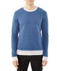 Alternative Apparel | Blue Champ Eco-mock Twist Ringer Sweatshirt for Men | Lyst