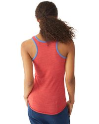 Alternative Apparel - Red Ringer Racerback Tank Top - Lyst