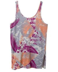 Alternative Apparel | Pink Side Kick Printed Tissue Slub Tank Top | Lyst