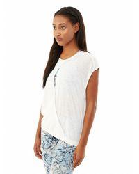 Alternative Apparel - White Pick A Side Eco-gauze Jersey Top - Lyst