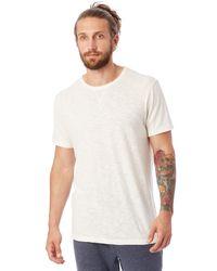 Alternative Apparel | White Eurostar Seasalt Washed Slub T-shirt for Men | Lyst
