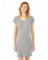 Alternative Apparel - Gray Lakeside Eco-jersey Dress - Lyst