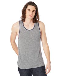 Alternative Apparel - Gray Double Ringer Eco-jersey Tank Top for Men - Lyst