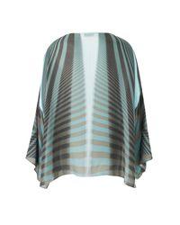 Amanda Wakeley   Blue Beam Aqua & Ebony Kimono Top   Lyst