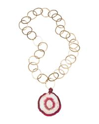 Amanda Wakeley - Metallic Malawi Red Agate Necklace - Lyst