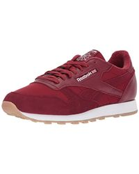 Reebok - Red Classic Leather Sneaker for Men - Lyst