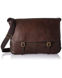 Fossil - Brown Messenger Bag for Men - Lyst
