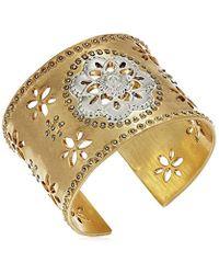 Lucky Brand - Metallic Statement Floral Cuff Bracelet - Lyst