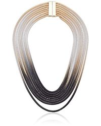 "Steve Madden - Metallic Ombre Snake Chain Necklace, 18"" - Lyst"