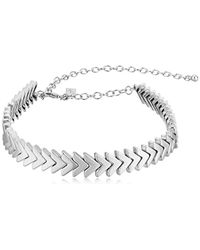 Rebecca Minkoff - Metallic Chevron Stretch Choker Necklace - Lyst