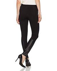 Jones New York Black Legging W/faux Leather Insert