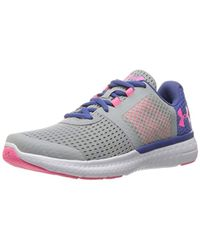 Under Armour - Grade School Micro G Fuel Rn Sneaker, Overcast Gray (941)/deep Periwinkle, 4.5 for Men - Lyst