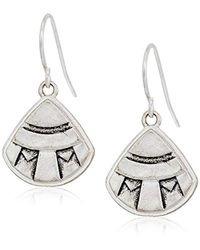 The Sak - Metallic Etched Fan Drop Earrings - Lyst