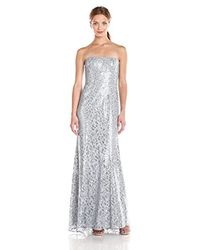 d3fd678f67ca Lyst - BCBGMAXAZRIA Natasha Chiffon Sequin Evening Gown