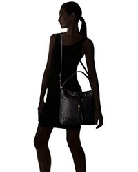 MILLY - Black Astor Whipstitch Bucket Bag - Lyst