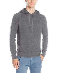 Calvin Klein - Gray Cotton Modal Textured Hoodie Sweater for Men - Lyst